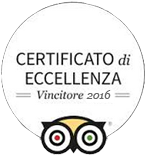Certificate of excellence winner 2016 - TripAdvisor