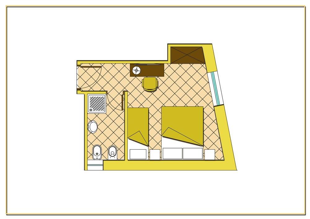 camera matrimoniale con letto aggiunto - hotel con camere vista ... - Piantina Camera Da Letto